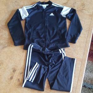 Girls Adidas Pants & Jacket Set Athletic Casual